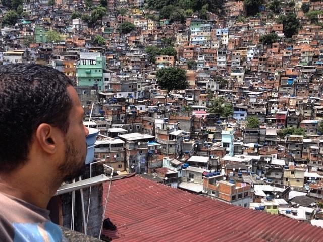 Enjoying the amazing view Rocinha has to offer