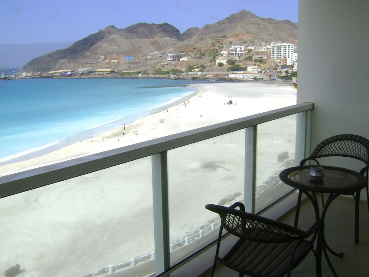 The incredible view from one of the Copacabana apartments in Mindelo, Cape Verde