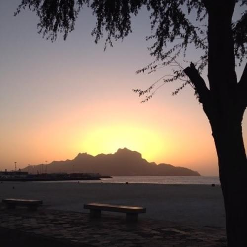 Sunset at Laginha Beach in Mindelo