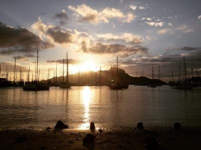 A beautiful sunset in Mindelo