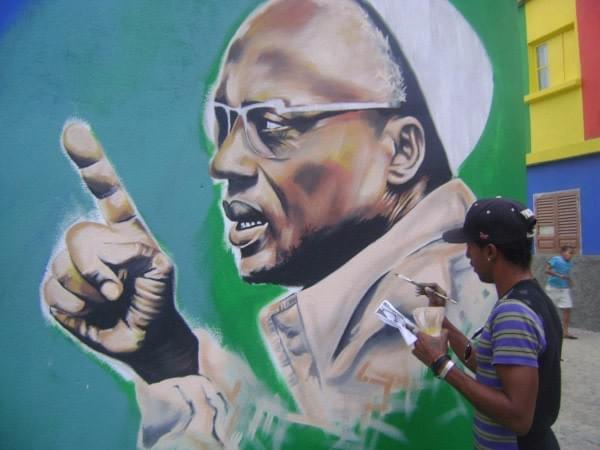 Amilcar Cabral painted by Vadjix for Sonvela Arte