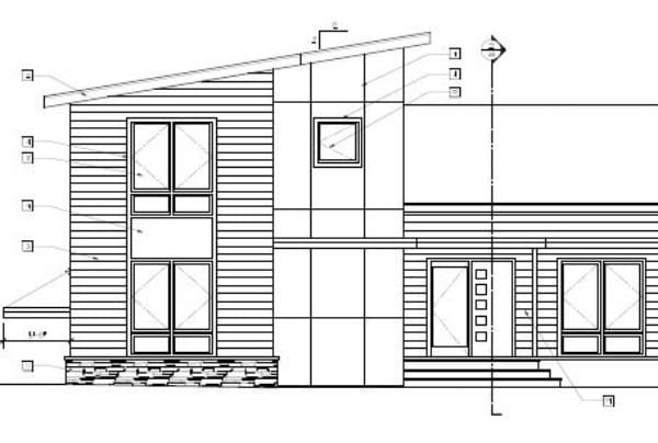 Front elevation of the new house - cool right?