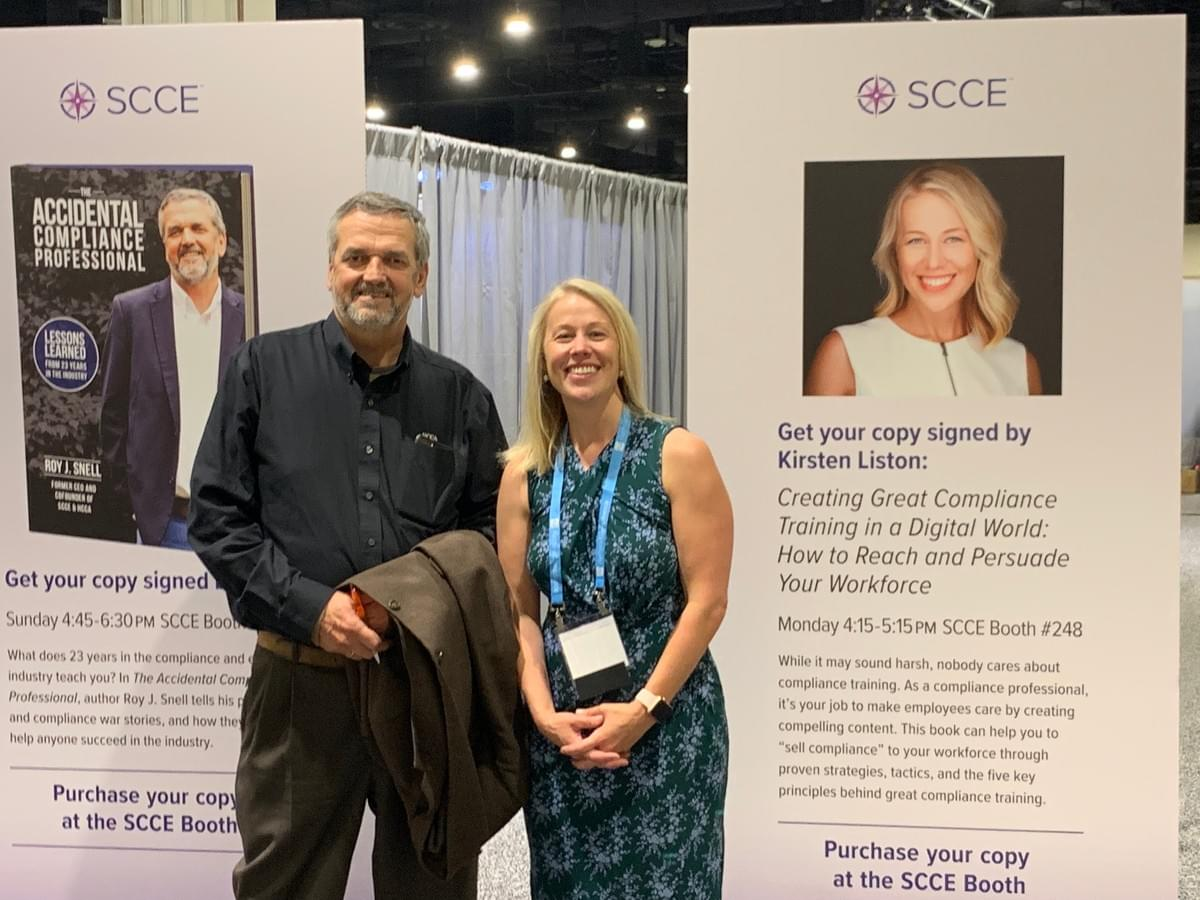 Kirsten and Roy Snell at the SCCE CEI Conference 2019