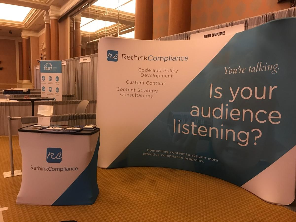 Our booth at the 2017 SCCE CEI in Las Vegas