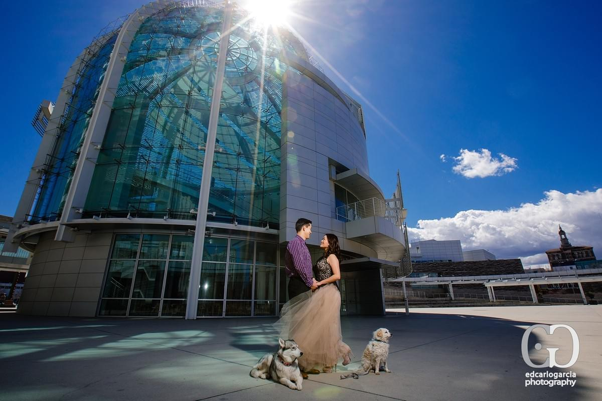 San Jose Engagement Photographer - San Jose City Hall - Sharon and Doug