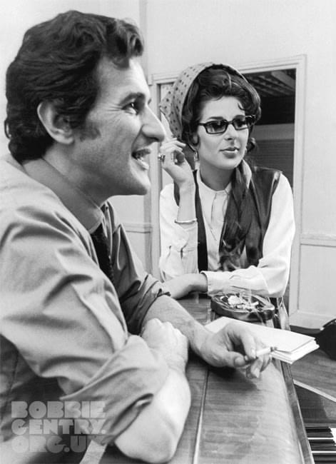 Bobbie Gentry with producer Stanley Dorfman