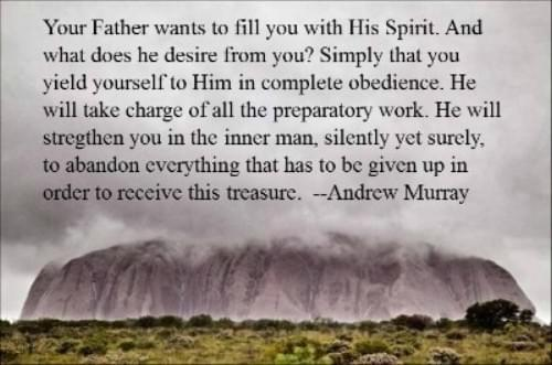 Your Father wants to fill you with his Holy Spirit.