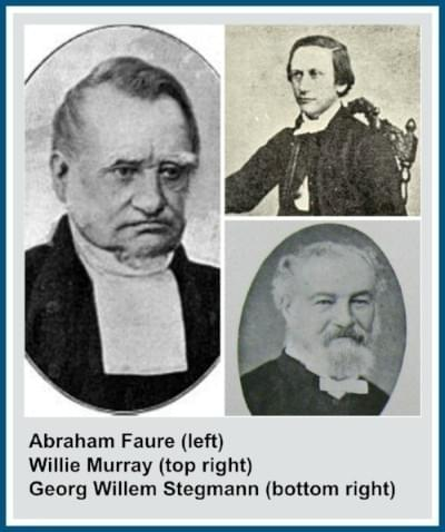 Abraham Faure, Willie Murray and Georg Willem Stegmann