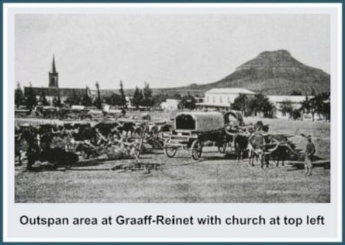 Outspan area in Graaff-Reinet around 1850