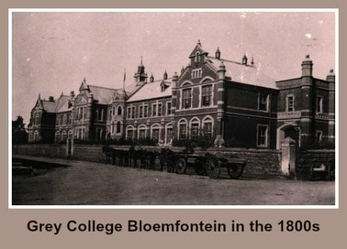 Grey College Bloemfontein in the 1800s