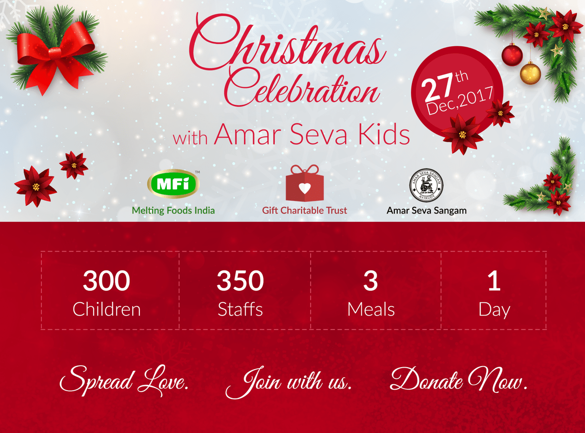 Christmas Celebration with Amar Seva Sangam Kids - Gift Charitable Trust