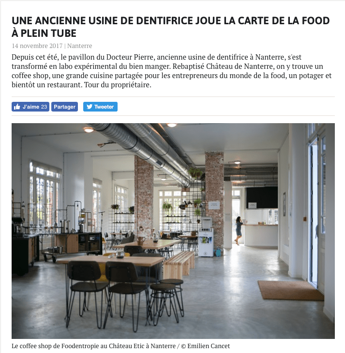 UNE ANCIENNE USINE DE DENTIFRICE JOUE LA CARTE DE LA FOOD À PLEIN TUBE - Enlarge your Paris