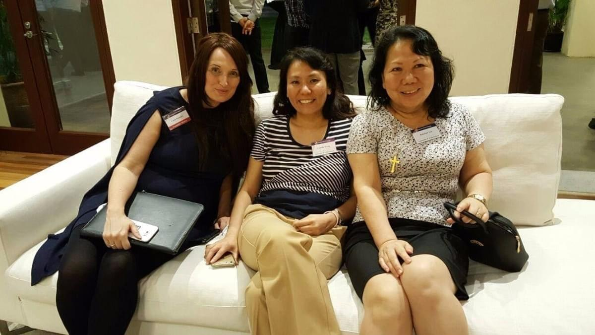 Awaiting AAS election results - Leesa Soulodre, Camilla Wong and Rebekah Yee