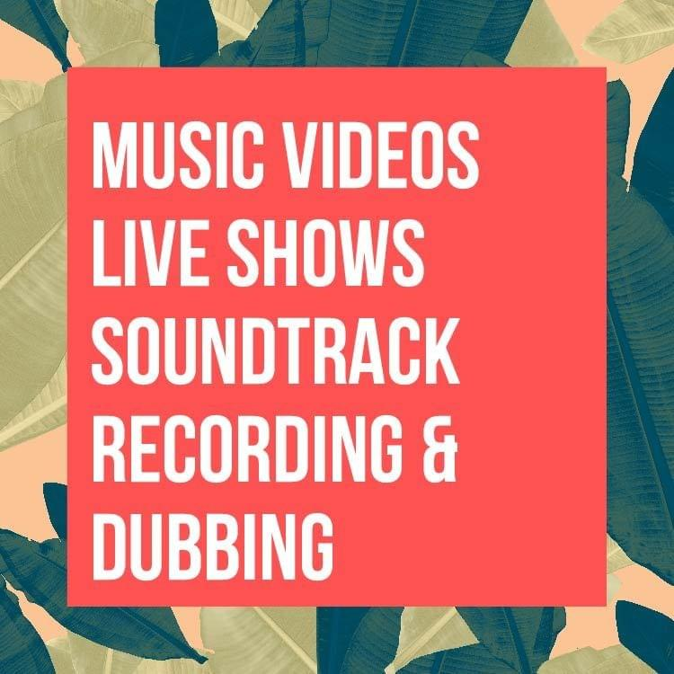 Music Videos, Live Performances, Soundtrack Recording, and Dubbing