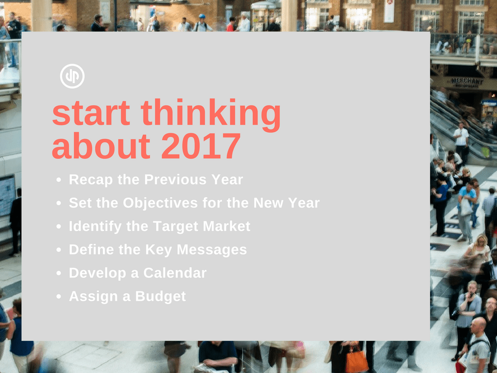 It is Time to Start Thinking about 2017 - checklist