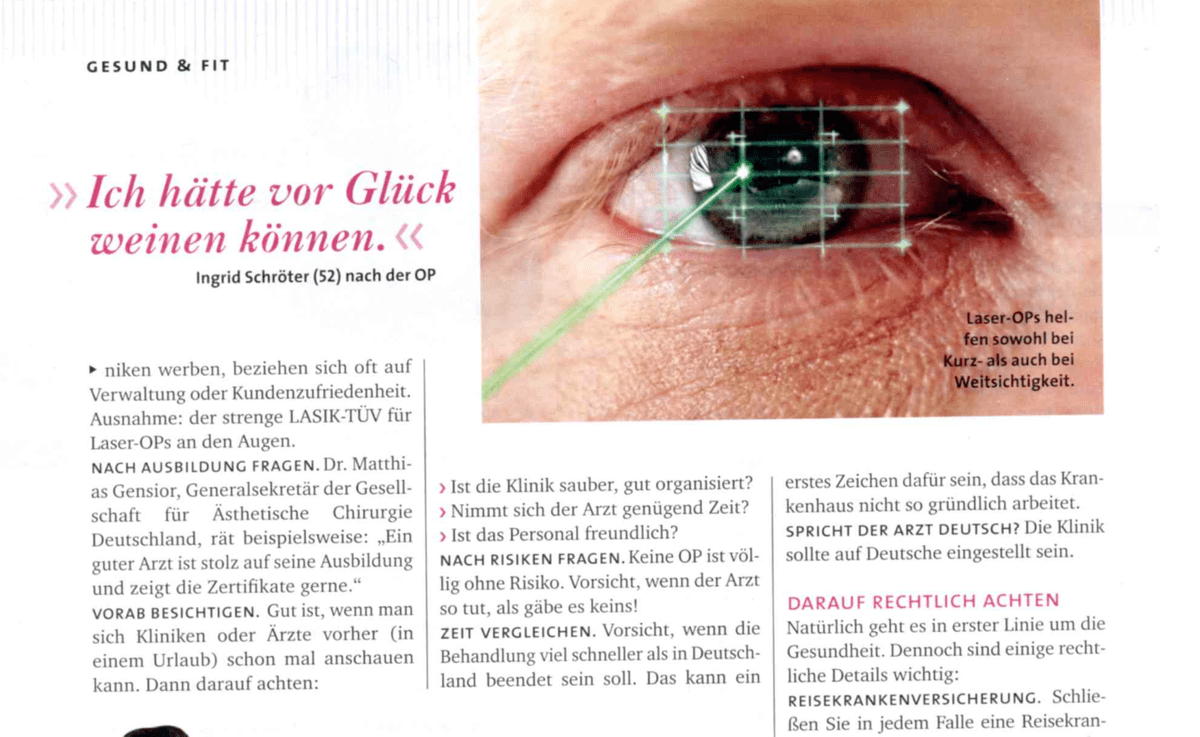 lasik, eye laser surgery article