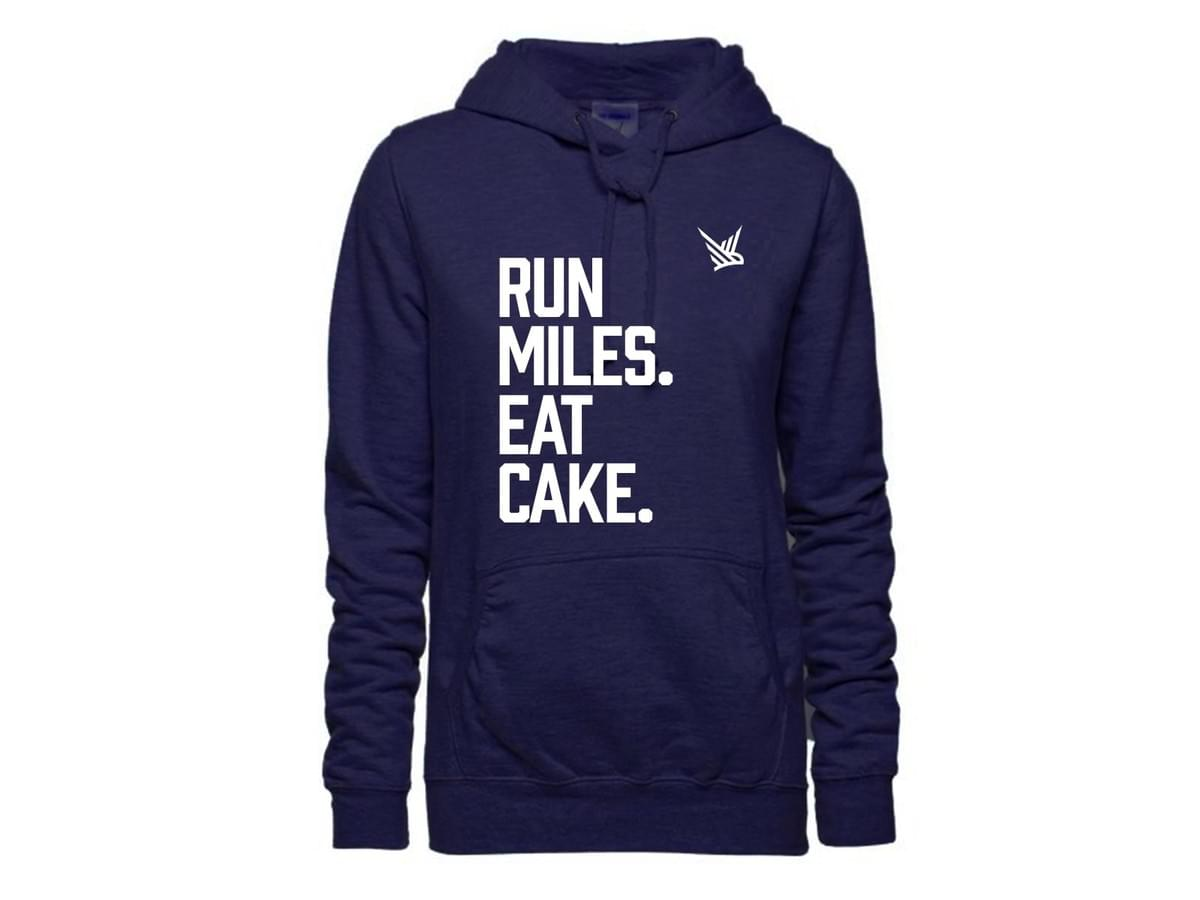 Run Miles. Eat Cake. Hoody