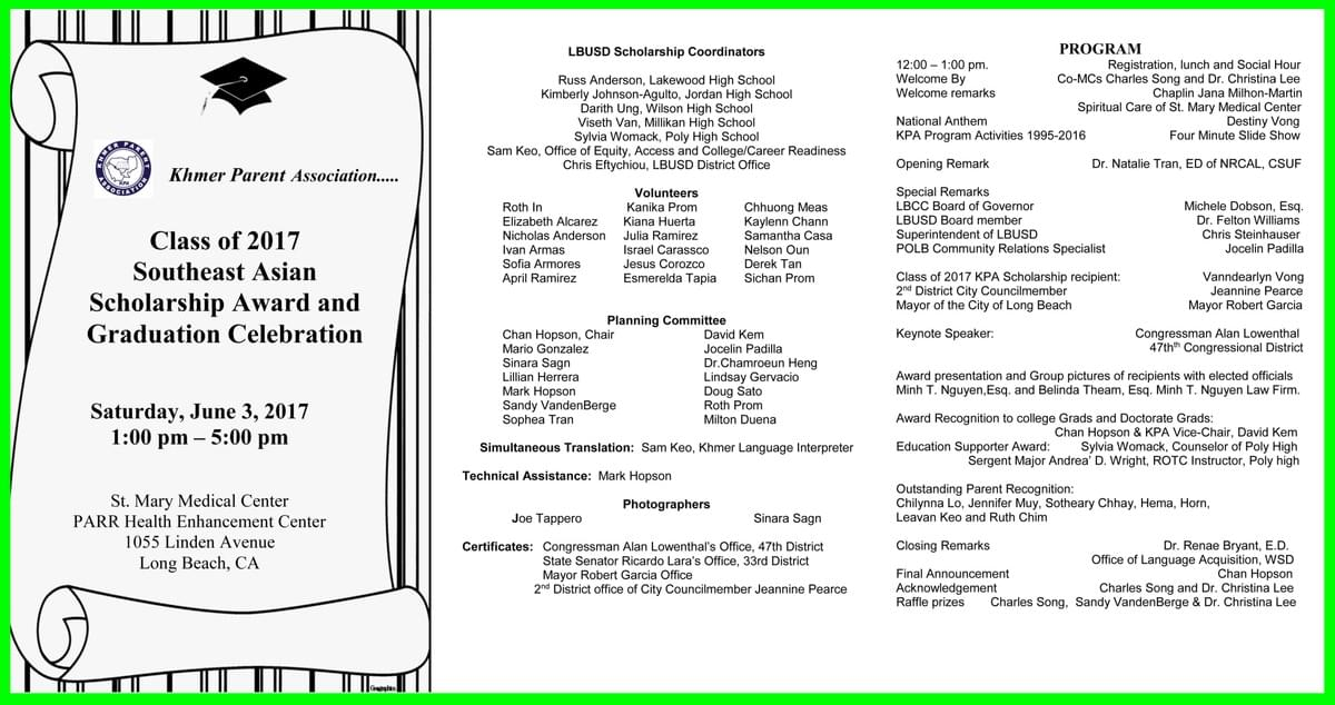 2017 Scholarship & Graduation