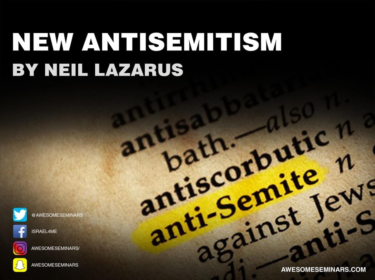 New AntiSemitism seminar by Neil Lazarus