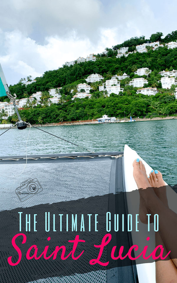Feet up on a sailboat heading towards Saint Lucia off the coast of the Caribbean Sea as the ultimate guide to Saint Lucia