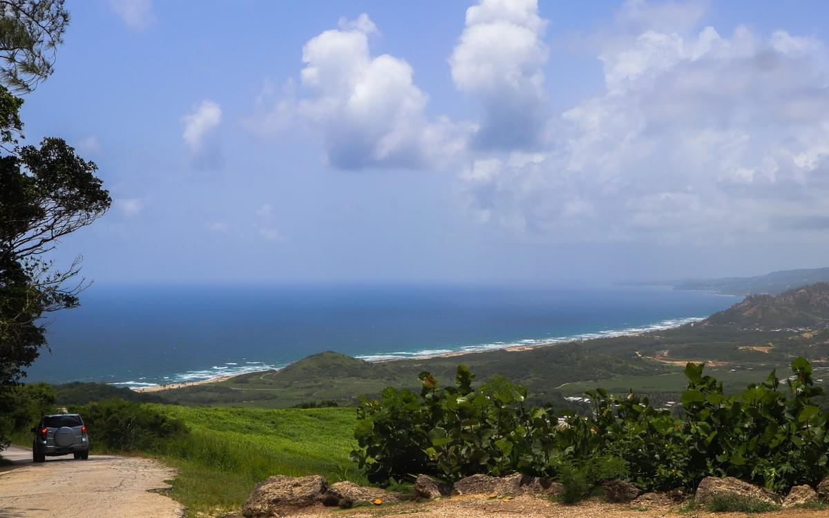 View of Barbados coastline from Cherry Hill close to the St. Nicholas Abbey plantation