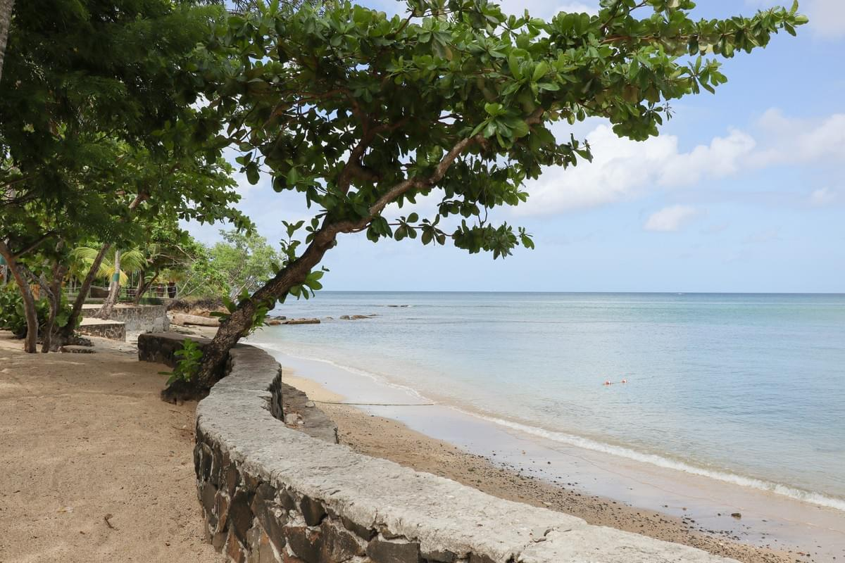 Caribbean Sea view from the exclusive beach at East Winds Resort in Saint Lucia