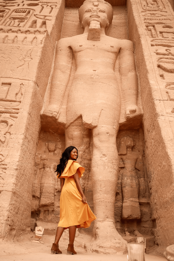 Brit Thompson at Abu SImbel in Egypt