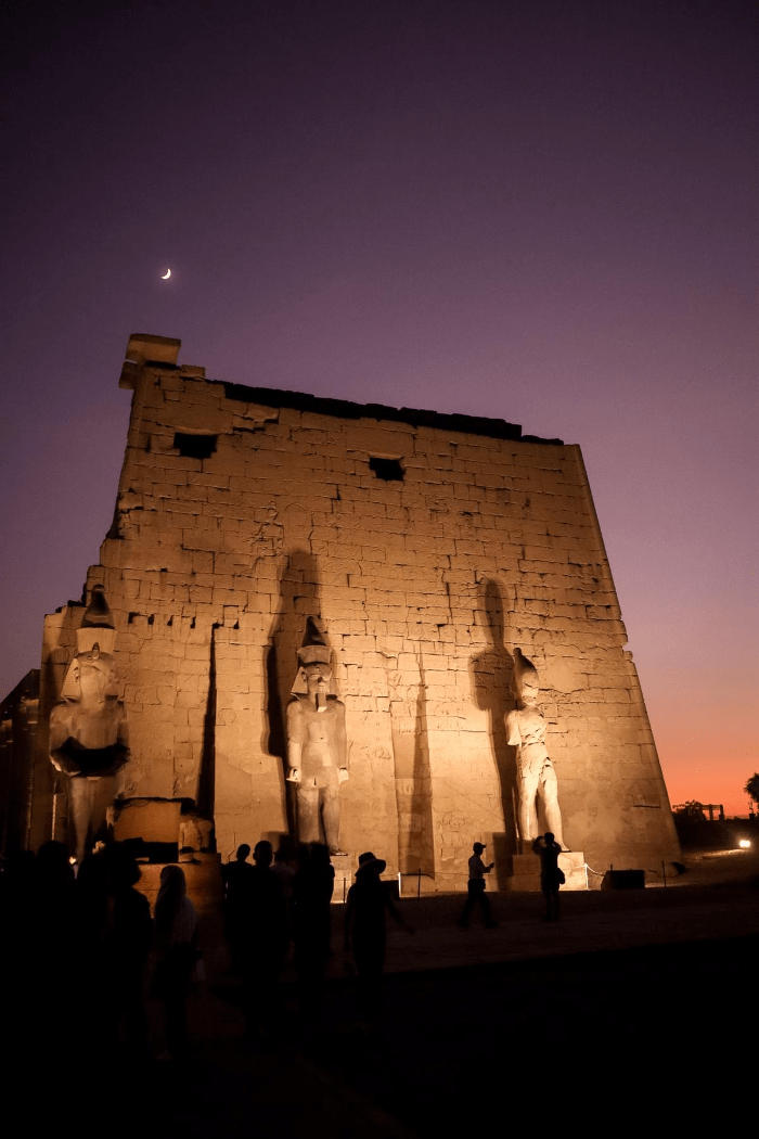 Temple in Aswan at night