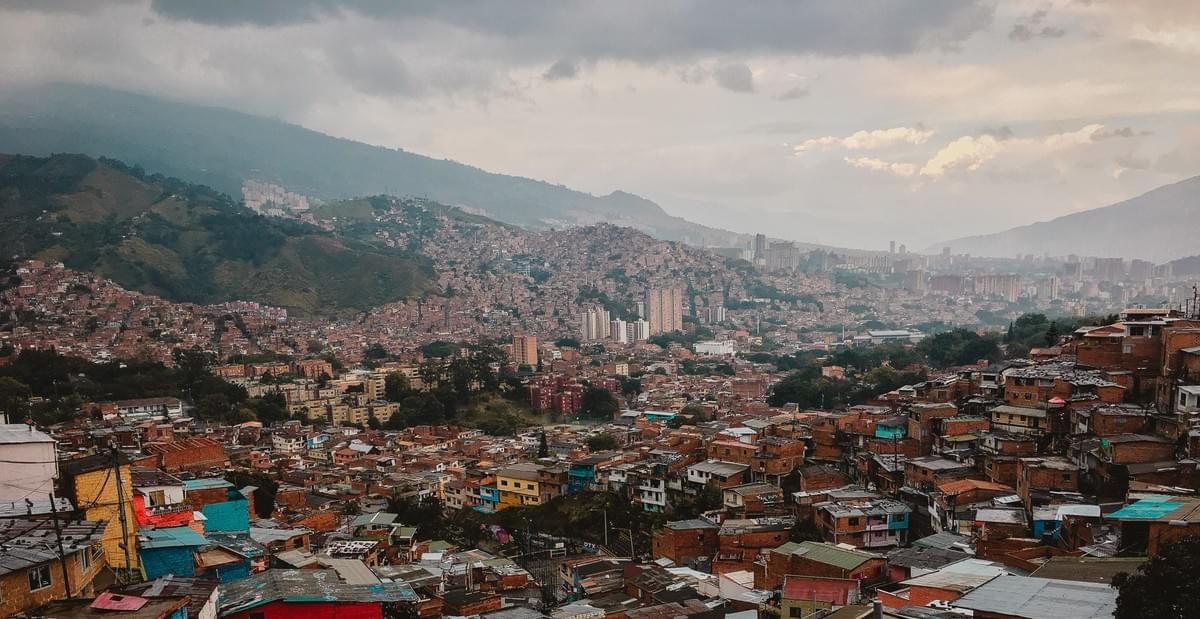 wide landscape photo of medellin, colombia