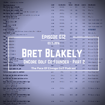 Pace Of Change Golf Podcast Episode 012
