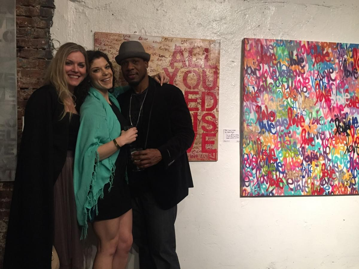 TESSIE TRACY, BETHANY LONDYN, RUBEN ROJAS, ALL YOU NEED IS LOVE, LOVE, ARTIST, CUSTOM ART, STREET ART, GRAFFITI ART, INTERIOR DECORATOR