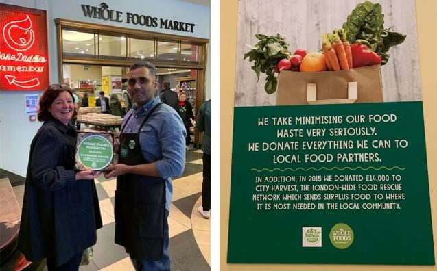 City Harvest Champion Award London Store Excellence - Whole Foods Kensington