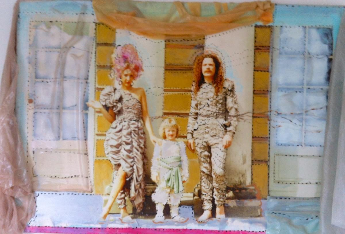 "'Colettesized Berlin Family Portrait"" 1985 .120 by 180 centimeters mixed media."