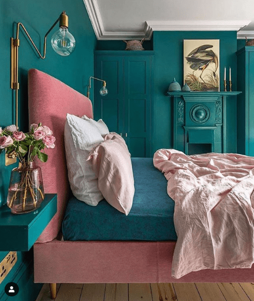 Chambre verte total look !