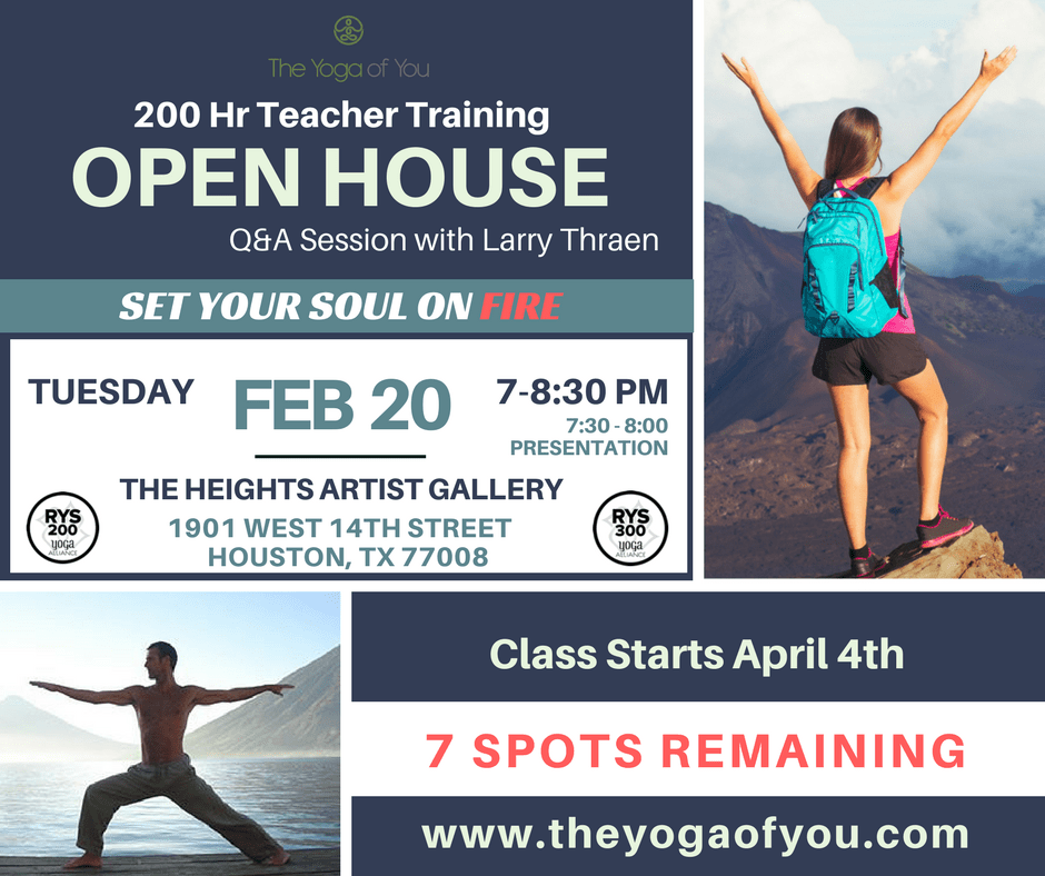 Yoga of You graphic - 200 hr yoga teacher training august 2017 - February 2018 houston texas