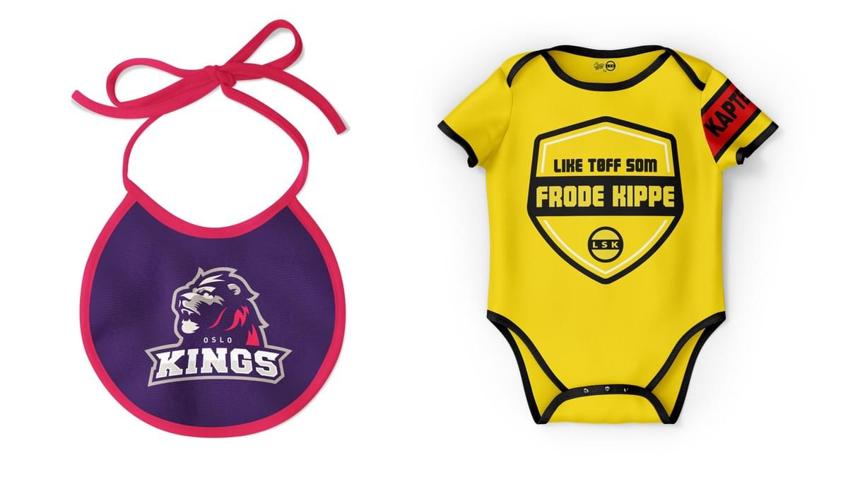 Smekke og baby body for de aller minste supporterne