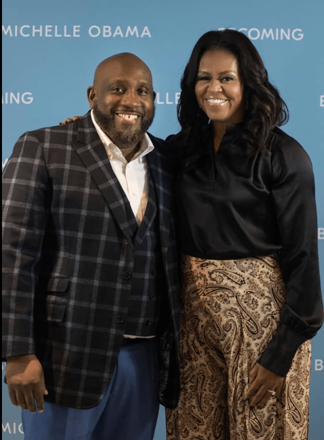 Eli Smith with Michelle Obama
