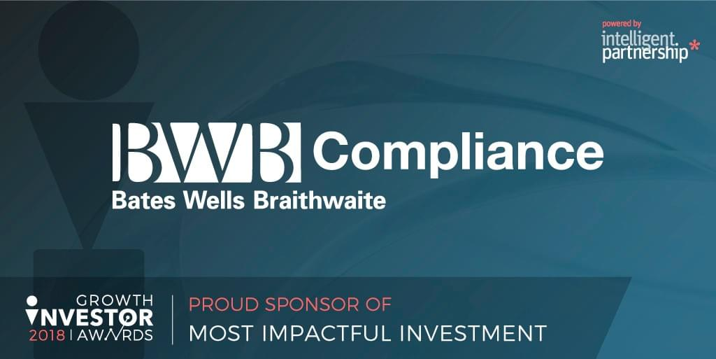 BWB Compliance: Proud Sponsor of Most Impactful Investment at Growth Investor Awards 2018