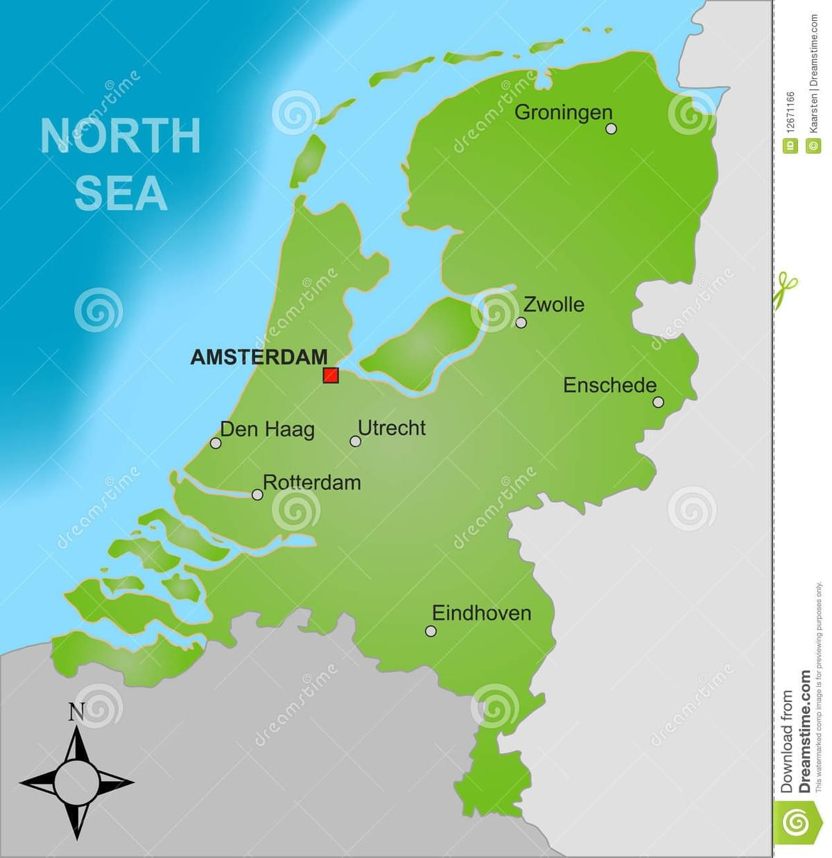 Best cities to open an office in Holland on