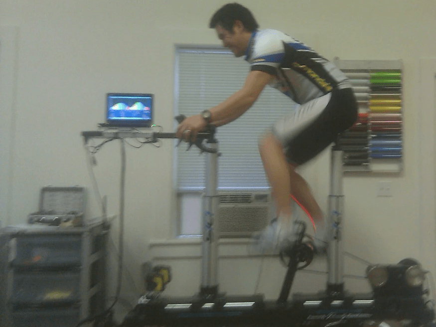 on the Serotta Size Cycle during my first bike fit course.