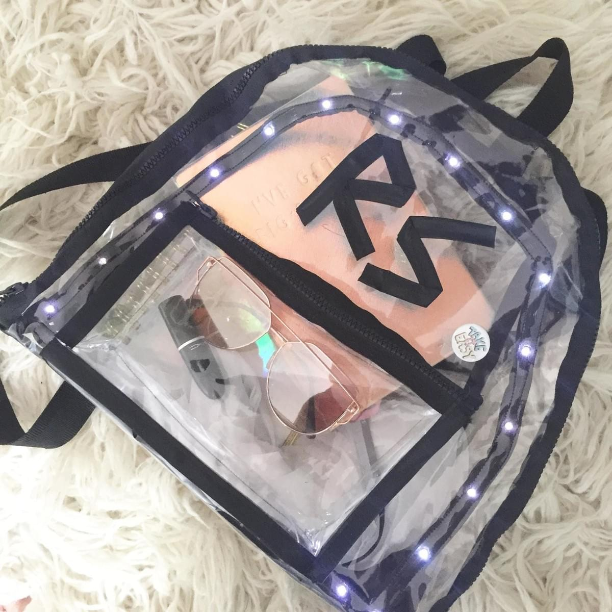 LED Ribbon Backpack by Rosemarie Soma
