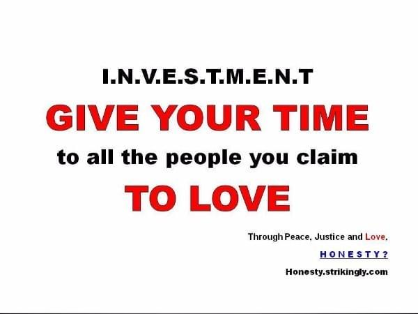 Invest your time and energy in who you love and what you love <3