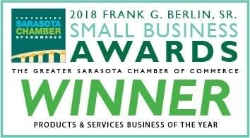 Sarasota Chamber of Commerce 2018 Frank G. Berlin, Sr. Small Business Awards Winner