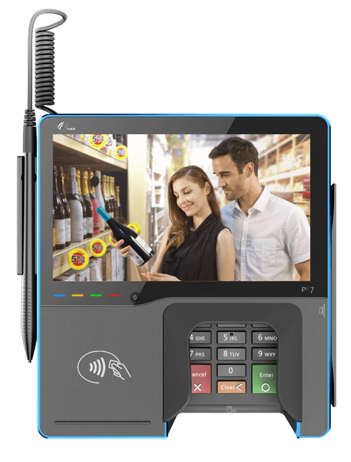 pax px7 multilane integrated multimedia terminal