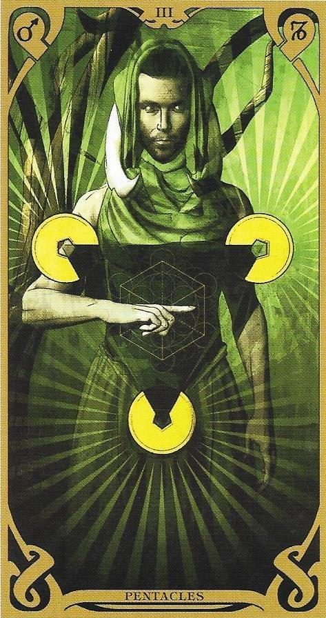The Tarot of Eli: The Thoth Tarot-3 of Disks-Works & The