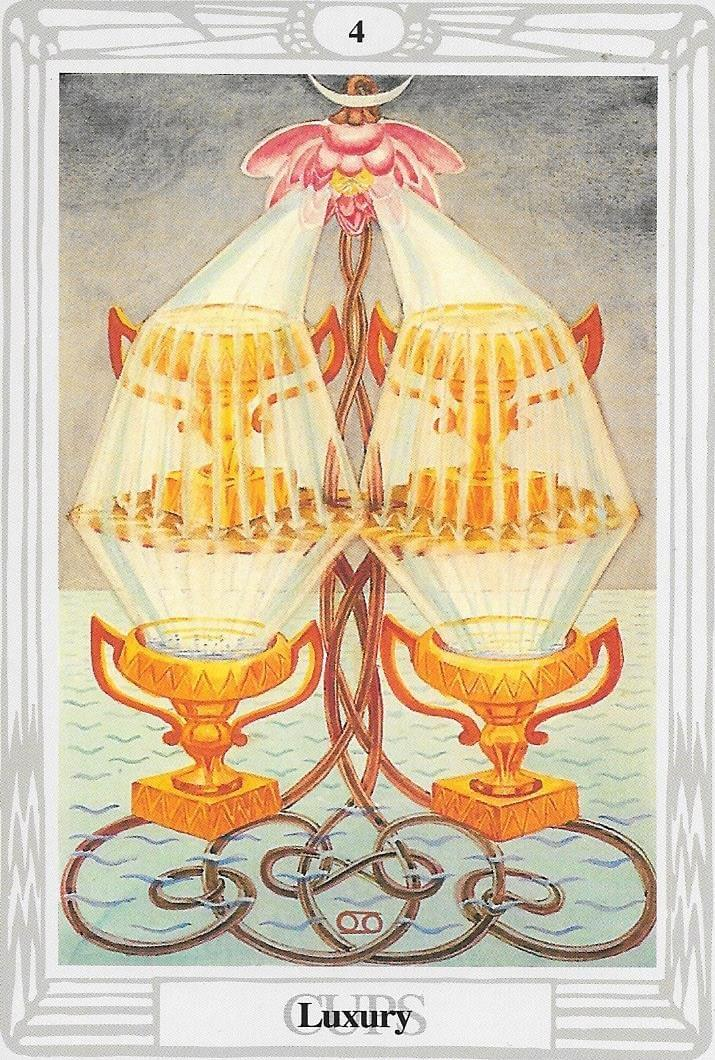 The Tarot of Eli: The Thoth Tarot- 4 of Cups-Luxury & The