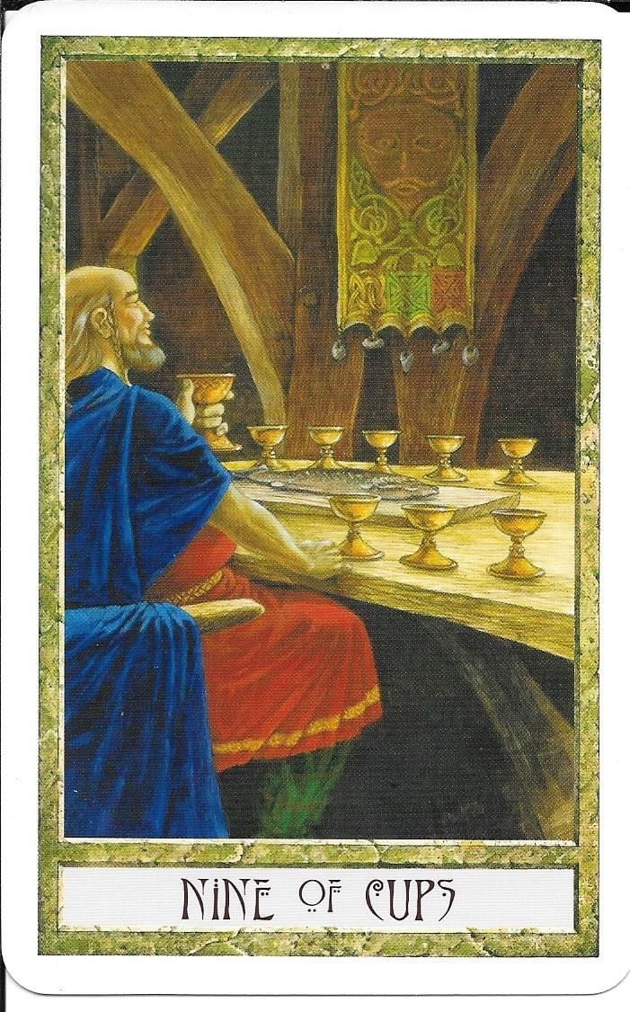 The Tarot of Eli: The Druid Craft Tarot- Nine of Cups & The