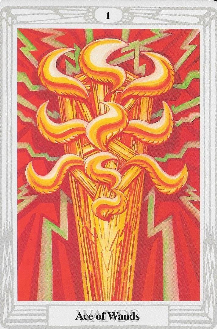 The Tarot of Eli: The Thoth Tarot-Ace of Wands - Qabalah