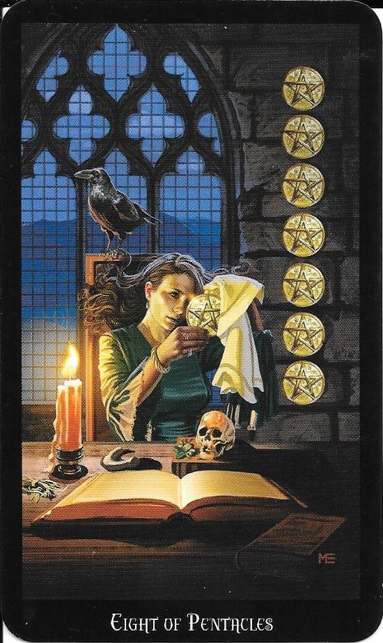The Tarot of Eli: The Witches Tarot- Eight of Pentacles & The Thoth