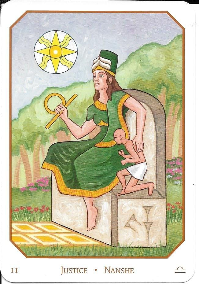 The Tarot of Eli: The Babylonian Tarot- Key 11-Justice